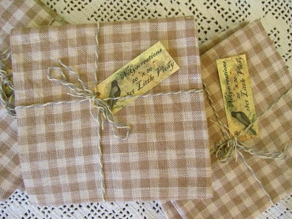 32ct Little Vichy Evenweave Linen 20 x 20 inches - Nikyscreations
