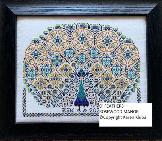 O'Feathers - Rosewood Manor - Chart and Thread Pack