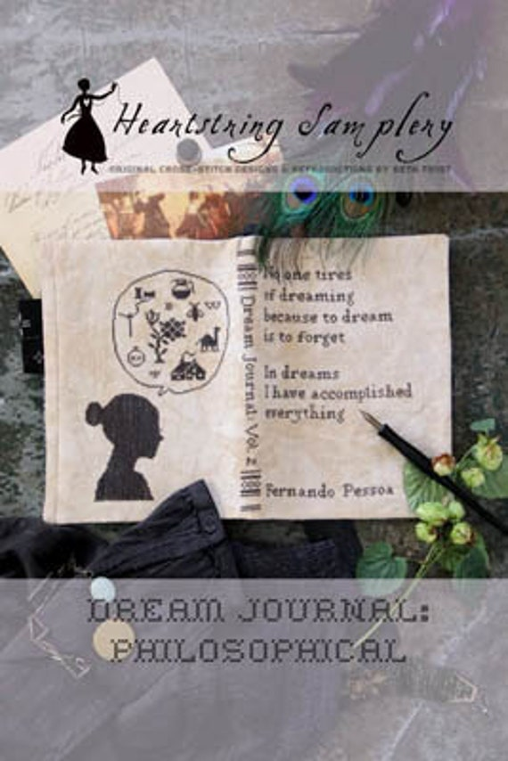 Dream Journal: Philosophical - Heartstring Samplery - Cross Stitch Chart