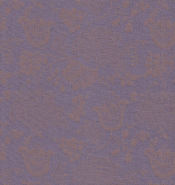 Dutch Chintz - Purple - Ton sur Ton 1/2yd