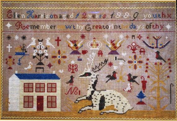 Ellen Harrison 1889 - NeedleWorkPress - Cross Stitch Chart