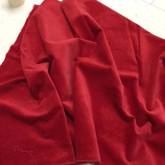 Velveteen - Chili - Lady Dot Creates - 18 x 10 inches