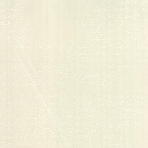 Modern BG Paper Handwriting White Eggshell - 1/2yd