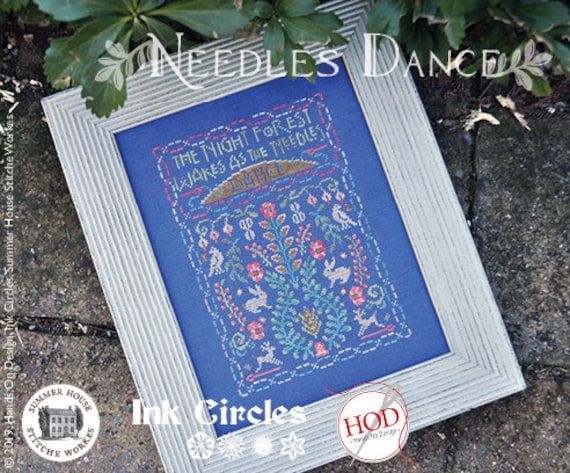 Needles Dance - CHART - Ink Circles, Hands On Design, Summer House Stitch Workes