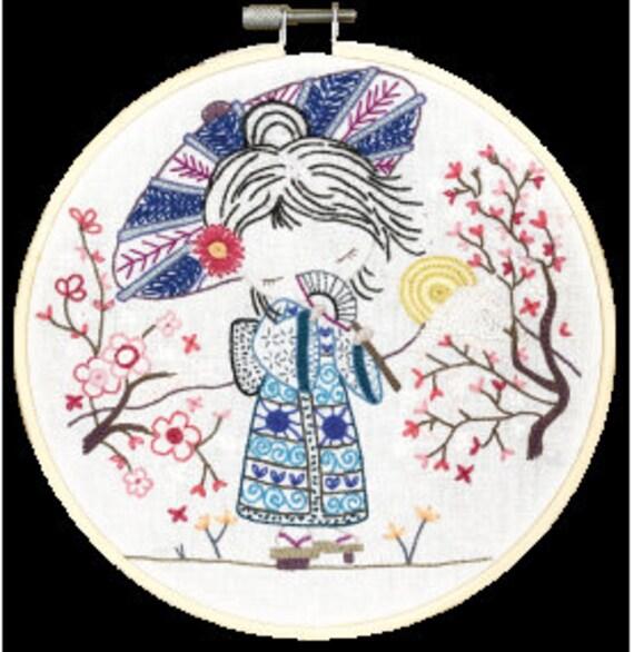 Salome in Japan - Embroidery Kit - Un Chat dans l'Aiguille