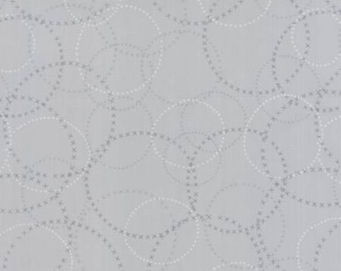 Modern BG Ink XOXO Zen Grey - 1/2yd