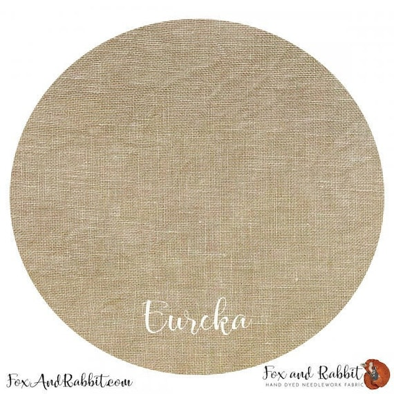 Eureka 36 count - Fox and Rabbit Designs - Hand-Dyed linen