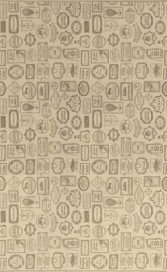 Bon Voyage - Labels Oyster 1/2yd