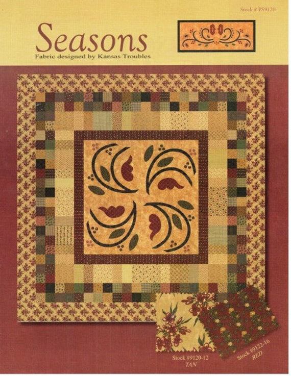 Seasons by Kansas Troubles Quilters - 42 x 5 inch Charm Square Pack