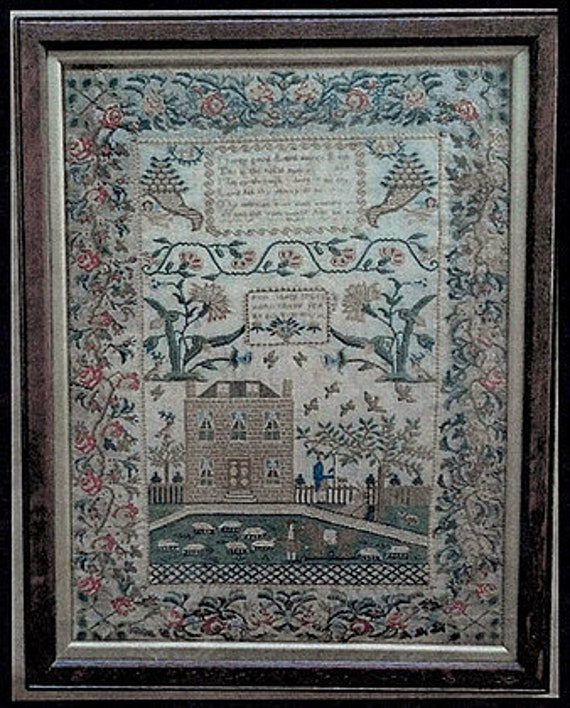 Sheep May Safely Graze Alice Smith - Victorian Rose - Cross stitch chart