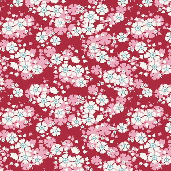 TILDA Woodland - Aster Carmine 100295 - Fat Quarter