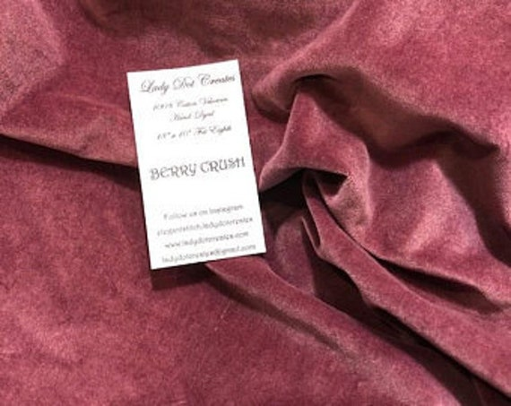 Velveteen - Berry Crush - Lady Dot Creates - 18 x 10 inches