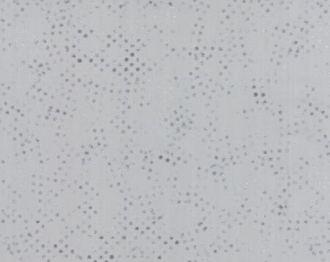 Modern BG Ink Stamped Dots Zen Grey - 1/2yd