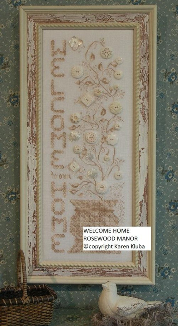 Welcome Home - Rosewood Manor - Chart and Button Pack
