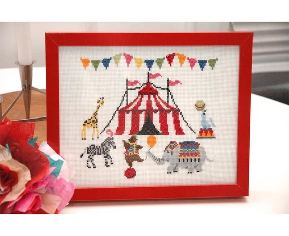 The Circus is in Town - Tiny Modernist - Cross Stitch Chart