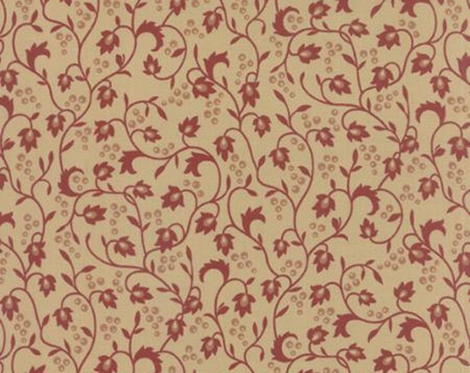Sticks and Stones Vines and Berries Red - 1/2yd
