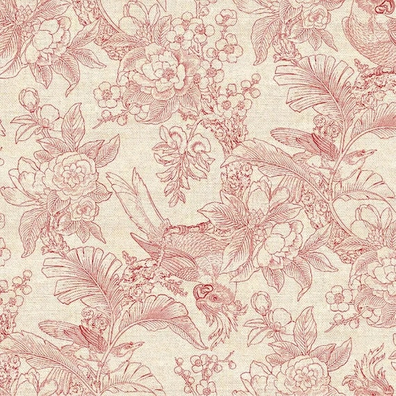 Chinoiserie - Linen/Cotton - 54 inches x 1/2yd