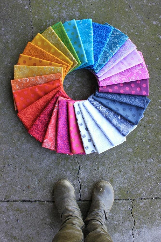 Impression Impression Impression soleil par Alison verre - lot de 27 x 1/2 verges 71da43