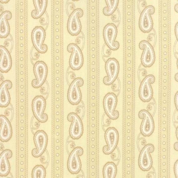 Polka Dots and Paisleys Paisley Stripe Cream - 1/2yd