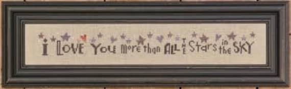 I Love You More Than All the Stars Row - Bent Creek - Chart Only