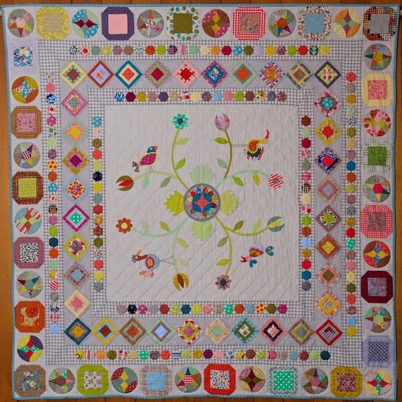 Happy Birds Quilt Pattern Booklet by Jen Kingwell
