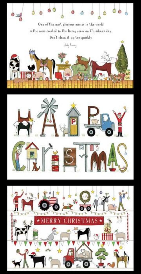Christmas in Australia DV3931 - Red Tractor - Santa Sack Panel