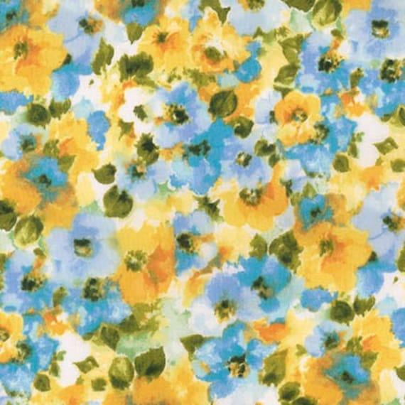 London Calling Lawn 6 - Floral Cornflower - 1/2 yard