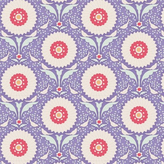 TILDA Bon Voyage - Ringflower Blue 100243 - Fat Quarter