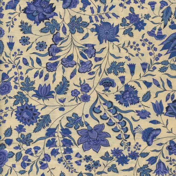 Dutch Heritage Surat 1025 - China Blue - 1/2yd