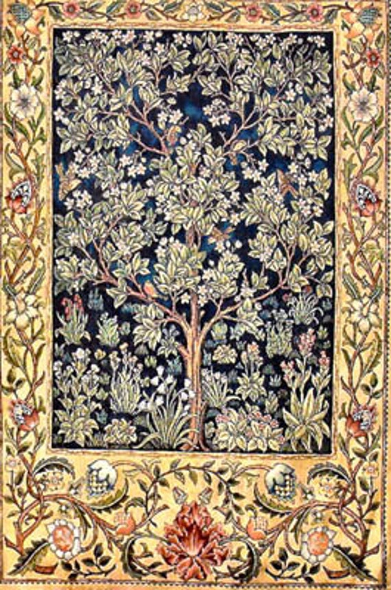 Garden of Delight - William Morris - Heaven and Earth Designs - Cross Stitch Chart