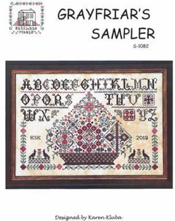 Grayfriar's Sampler - Rosewood Manor - Cross stitch chart