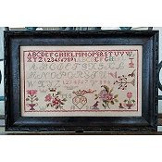 LW Motif Sampler 1821 - Samplers Not Forgotten - Cross Stitch Chart