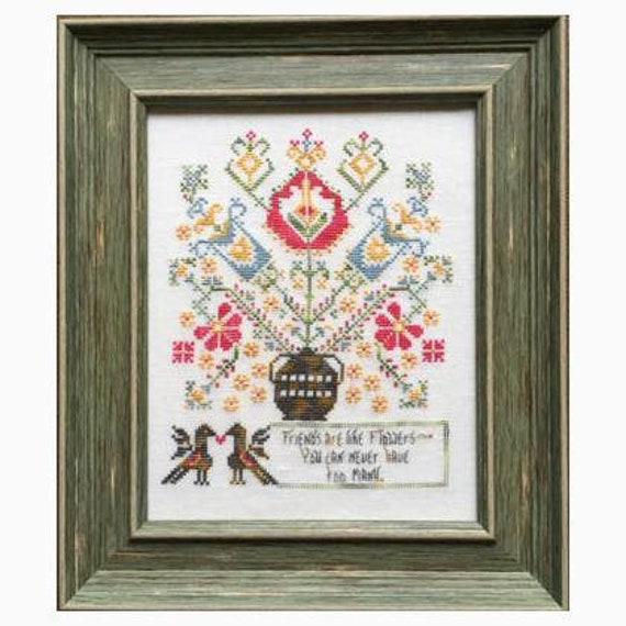 Friends are like Flowers - Rosewood Manor - Chart with Threads