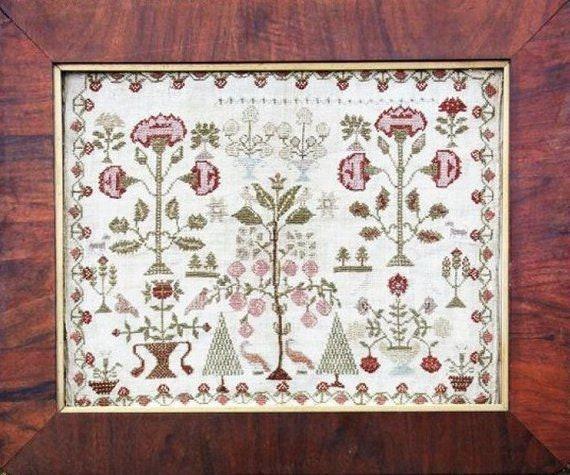 Victoria's Garden - Heartstring Samplery - Chart Only