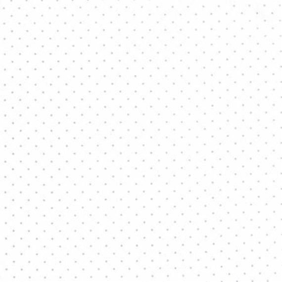 Modern BG Paper Pindot Silver White 158813 - 1/2yd