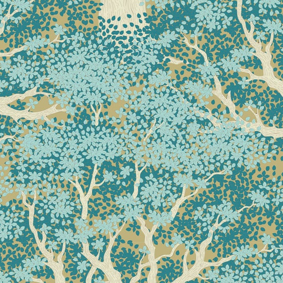 TILDA Woodland - Juniper Teal 100298 - Fat Quarter