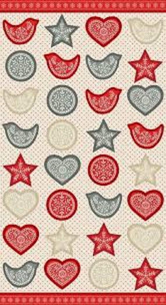 Scandi Christmas Ornaments - Fabric Panel