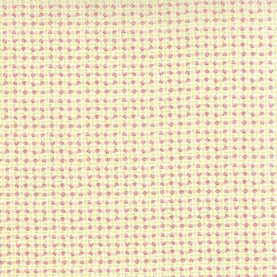 Bespoke Blooms Posie Plaid Yellow - 1/2yd