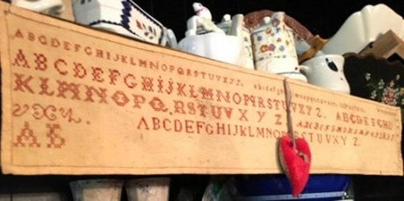 Six Red Alphabets - NeedleWorkPress - Cross Stitch Chart