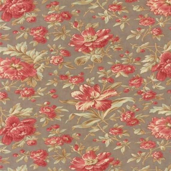 Larkspur Garden Blooms Grey - 1/2yd