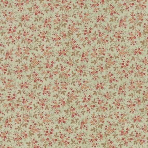 Larkspur Floral Vines Aqua - 1/2yd