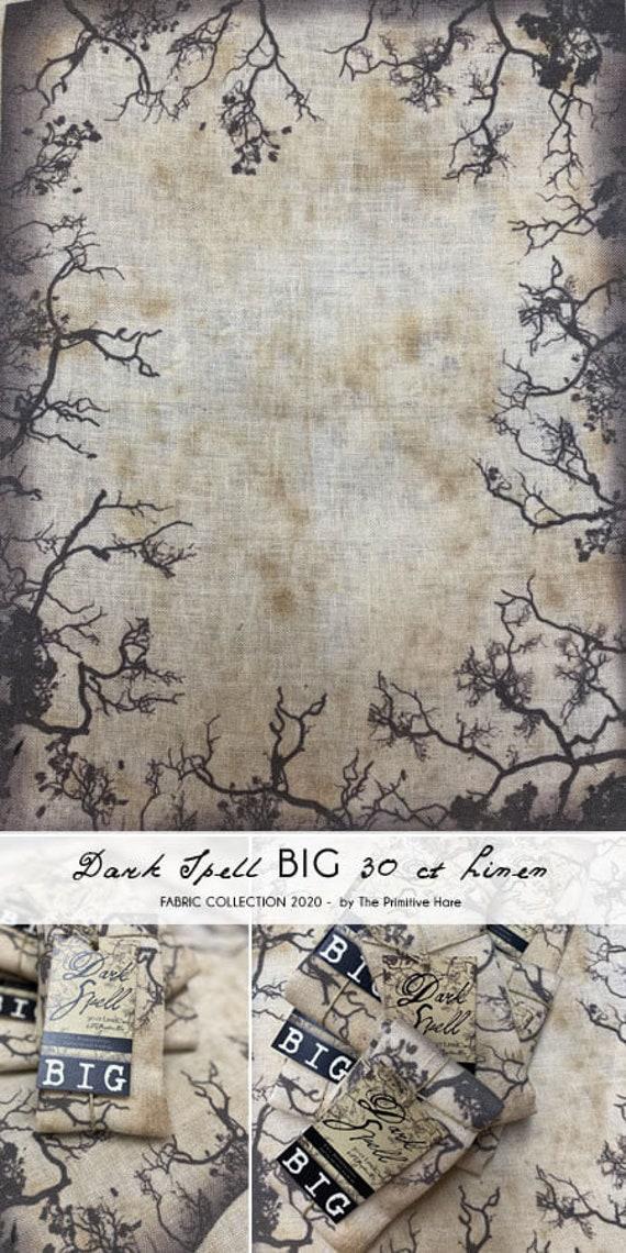 Dark Spell 30ct Linen - Primitive Hare - 10 1/2 x 7 3/4 inches
