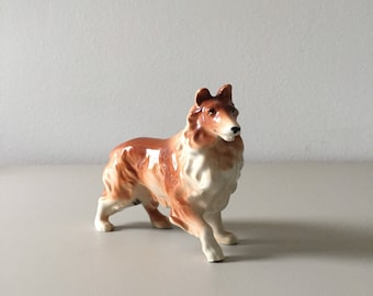 Porcelain Collie Figurine - Vintage Dog Figurine