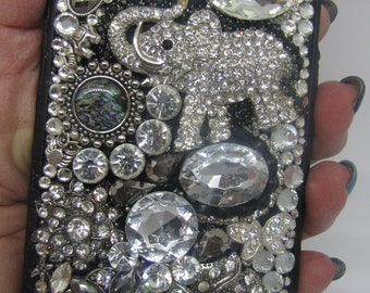 iPhone 6+ cell phone cover with lots of bling