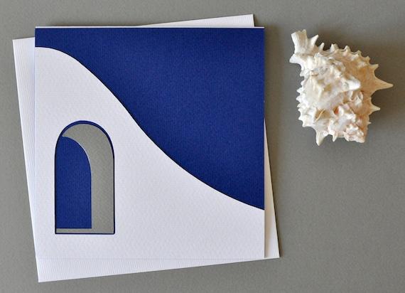 Swallows memorabilia wishing card from Santirini/'s fresco spring Aegean Cycladic art to-be-framed eco archeologists/' wedding invitation