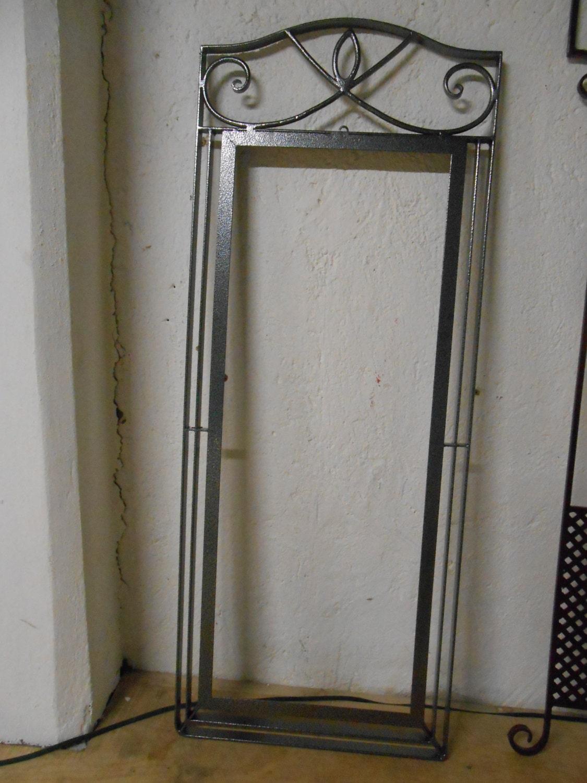 Marco para espejo de hierro forjado a mano en fragua pintado