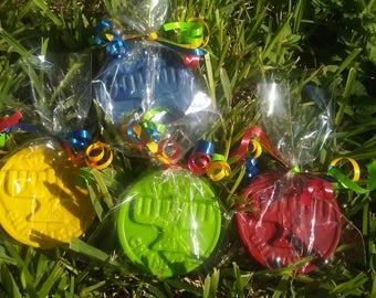 Hanukkah party favors, Hanukkah crayons, 20 bags, religious school, symbol, menorah
