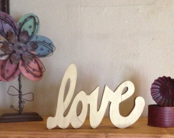 """Wooden """"Love"""" Sign"""
