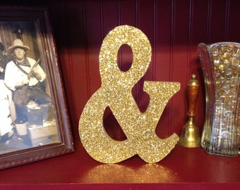 Wood Ampersand (And) Sign