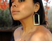 THE MAYA EARRINGS  Brass Earrings, Gold Earrings, Women's Earrings, Handmade Earrings, Handmade Jewelry, Large Earrings